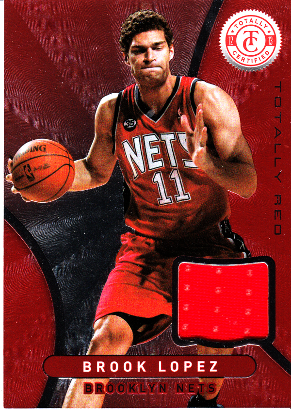 2012-13 Totally Certified Red Materials #4 Brook Lopez