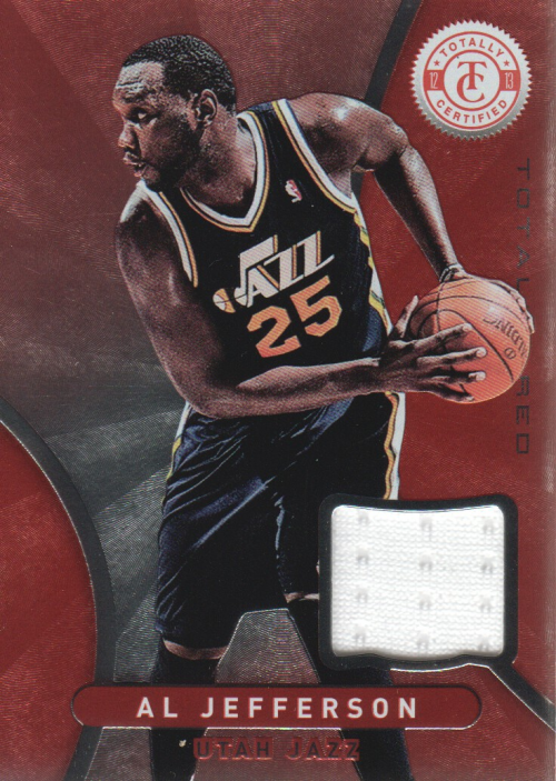 2012-13 Totally Certified Red Materials #5 Al Jefferson