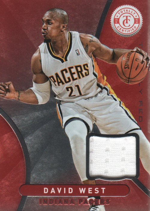 2012-13 Totally Certified Red Materials #15 David West