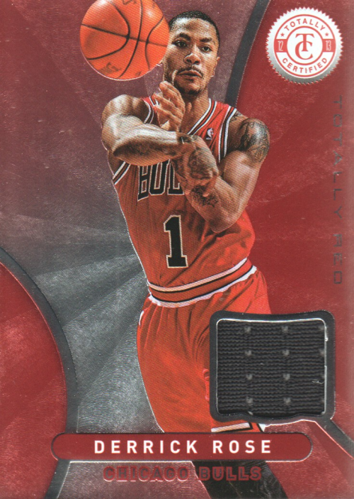 2012-13 Totally Certified Red Materials #17 Derrick Rose
