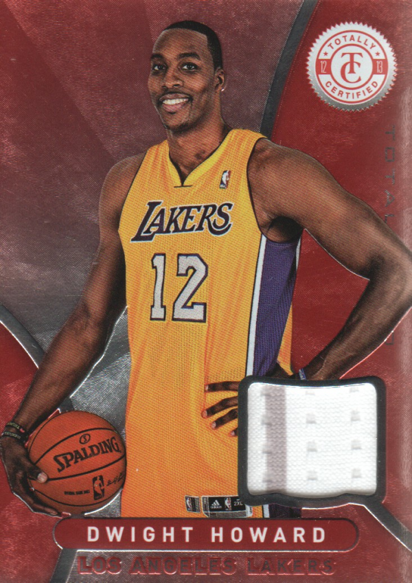 2012-13 Totally Certified Red Materials #19 Dwight Howard