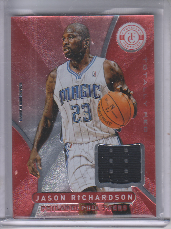 2012-13 Totally Certified Red Materials #22 Jason Richardson