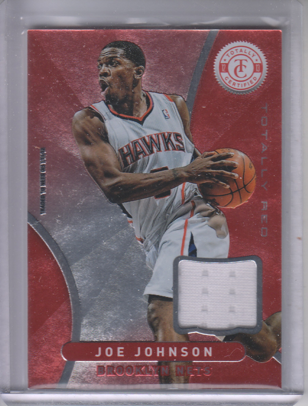 2012-13 Totally Certified Red Materials #25 Joe Johnson