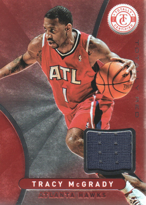 2012-13 Totally Certified Red Materials #51 Tracy McGrady
