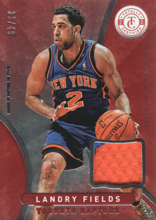 2012-13 Totally Certified Red Materials Prime #38 Landry Fields