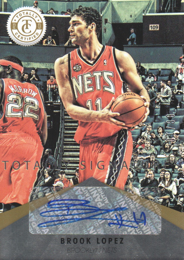 2012-13 Totally Certified Gold Autographs #1 Brook Lopez