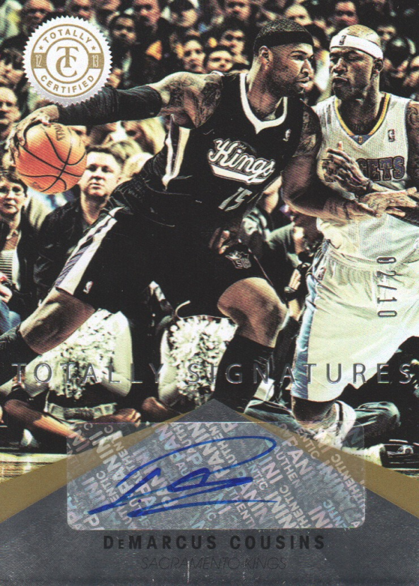 2012-13 Totally Certified Gold Autographs #22 DeMarcus Cousins