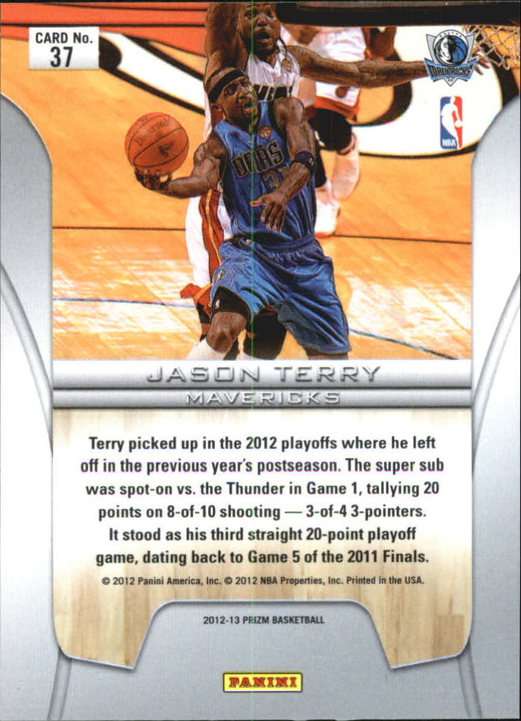 2012-13 Panini Prizm Finalists #37 Jason Terry back image