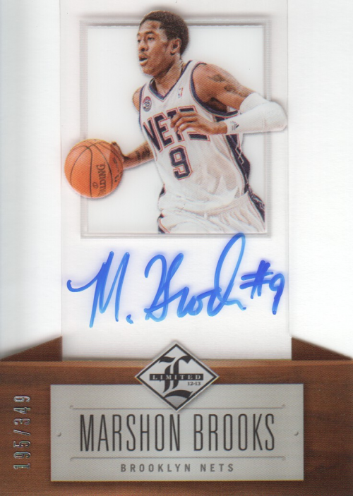 2012-13 Limited #160 MarShon Brooks AU/349 RC