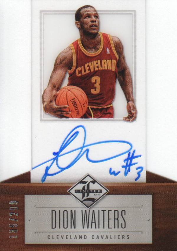 2012-13 Limited #162 Dion Waiters AU/299 RC