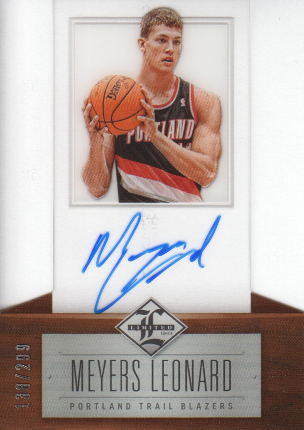 2012-13 Limited #170 Meyers Leonard AU/299 RC
