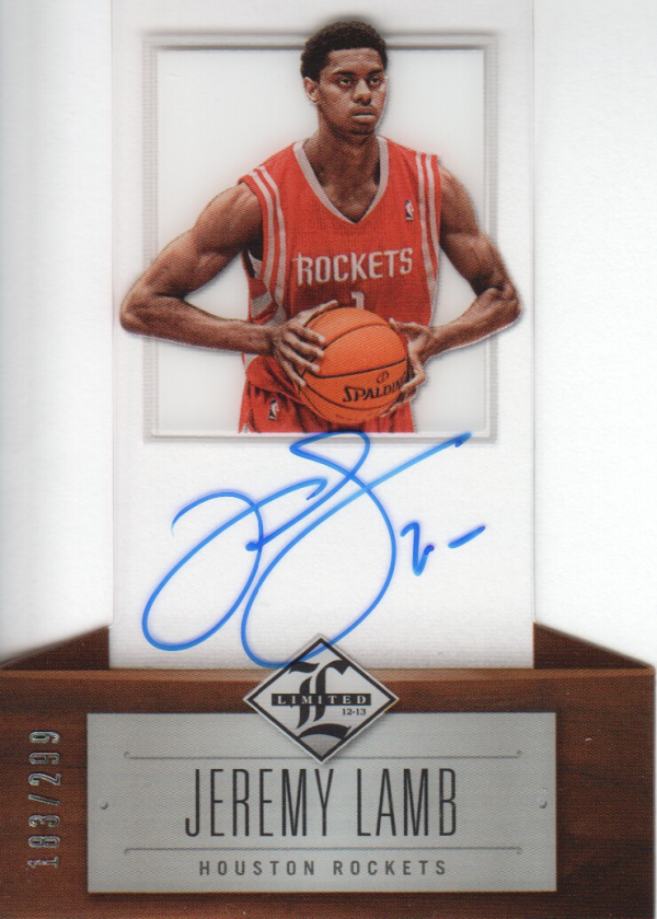 2012-13 Limited #171 Jeremy Lamb AU/299 RC