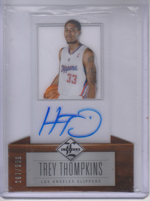 2012-13 Limited #221 Trey Thompkins AU/399 RC