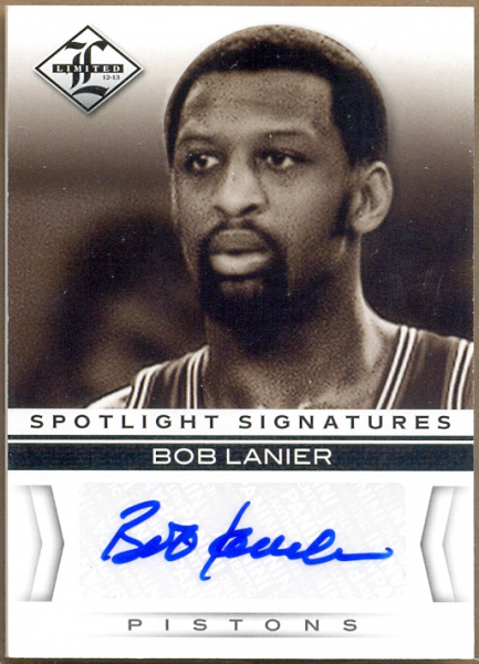 2012-13 Limited Spotlight Signatures #44 Bob Lanier/49