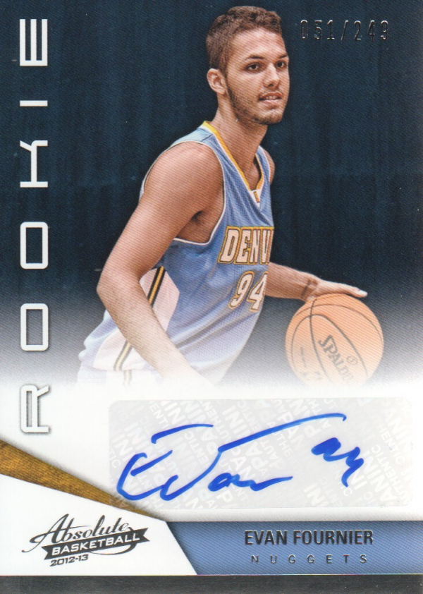 2012-13 Absolute #173 Evan Fournier AU/249 RC