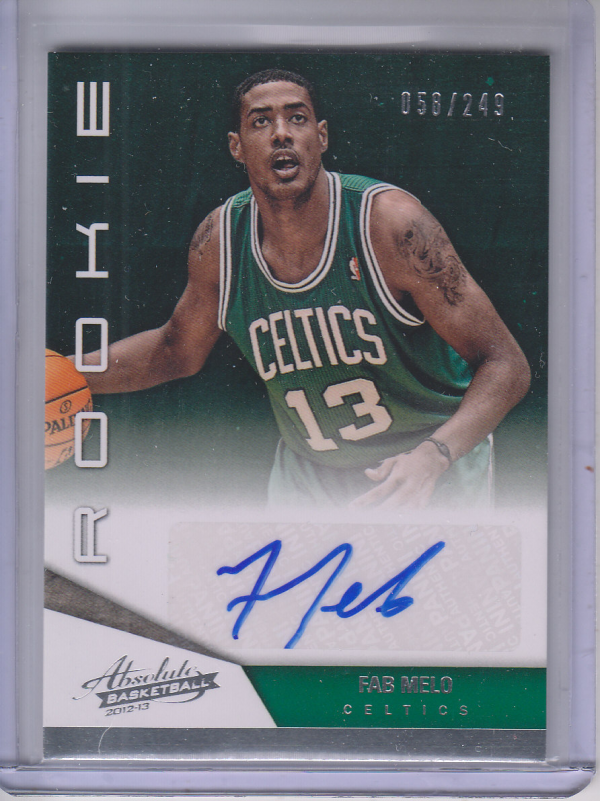 2012-13 Absolute #208 Fab Melo AU/249 RC