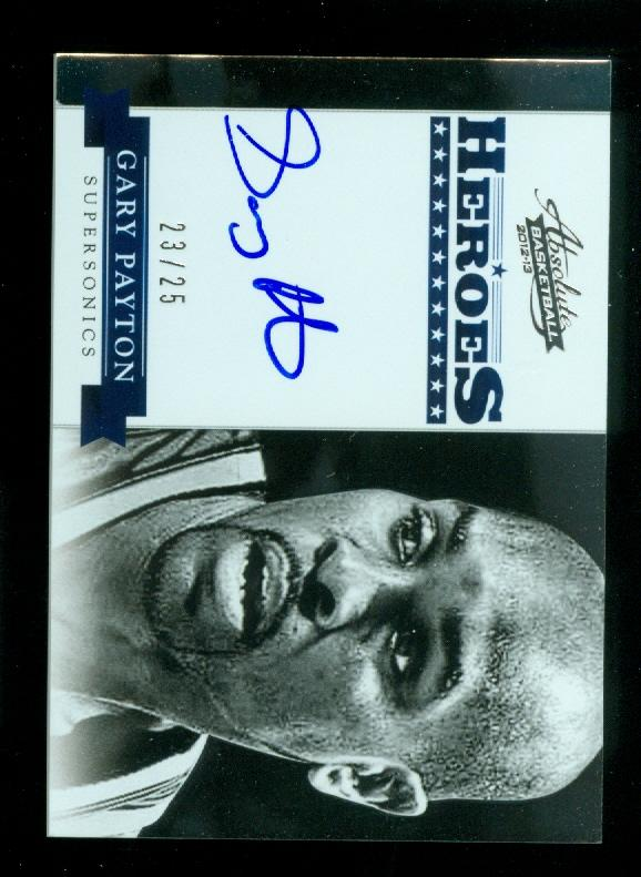 2012-13 Absolute Heroes Autographs #23 Gary Payton/25