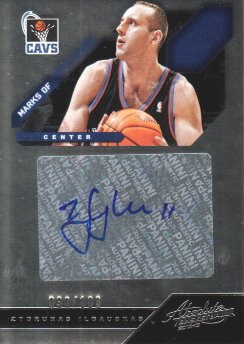 2012-13 Absolute Marks of Fame Autographs #21 Zydrunas Ilgauskas/100