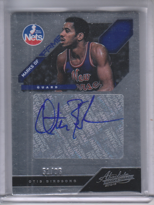 2012-13 Absolute Marks of Fame Autographs #35 Otis Birdsong/96