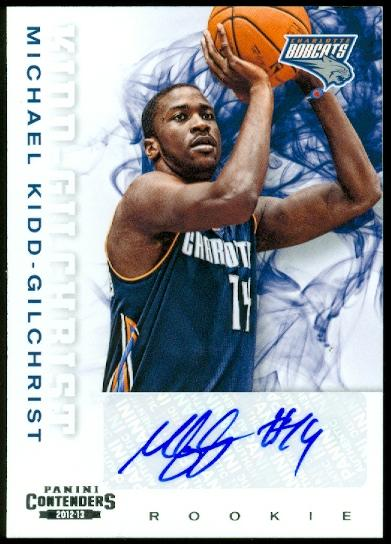 2012-13 Panini Contenders #202 Michael Kidd-Gilchrist AU RC