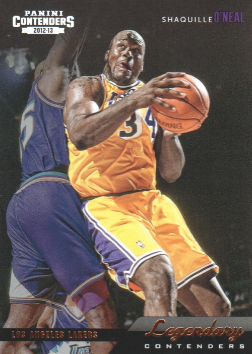 2012-13 Panini Contenders Legendary Contenders #5 Shaquille O'Neal