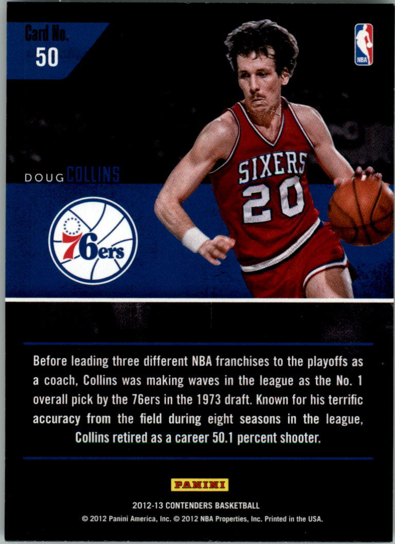 2012-13 Panini Contenders Legendary Contenders #50 Doug Collins back image