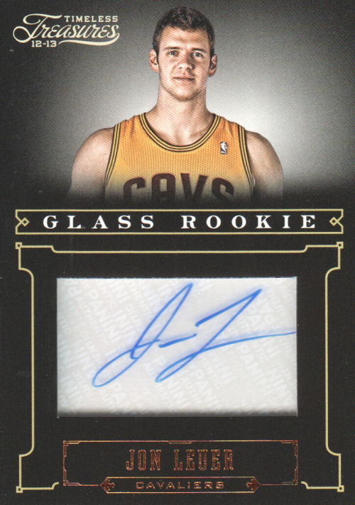 2012-13 Timeless Treasures #196 Jon Leuer AU/499 RC