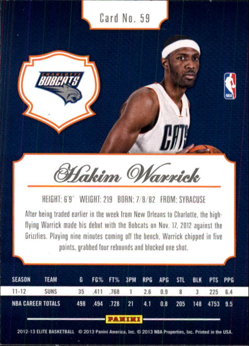 2012-13 Elite #59 Hakim Warrick