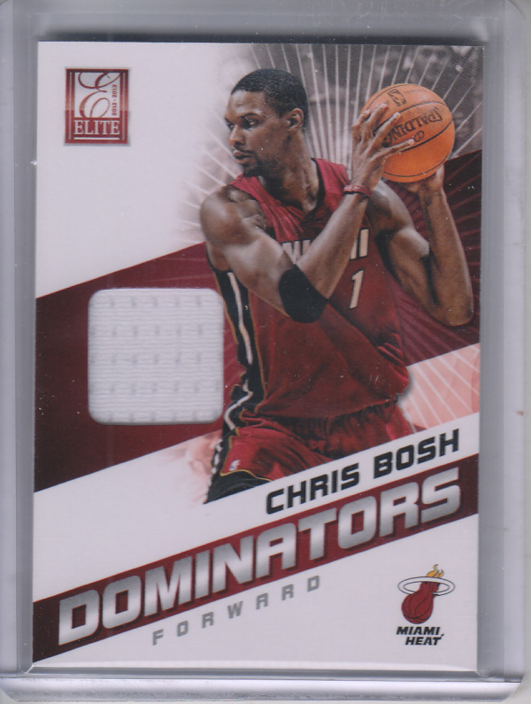 2012-13 Elite Dominators Materials #23 Chris Bosh