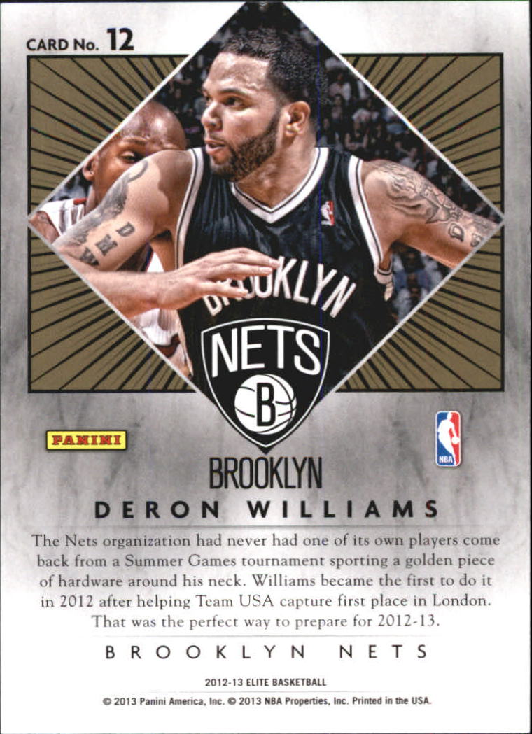 2012-13 Elite Series Inserts #12 Deron Williams