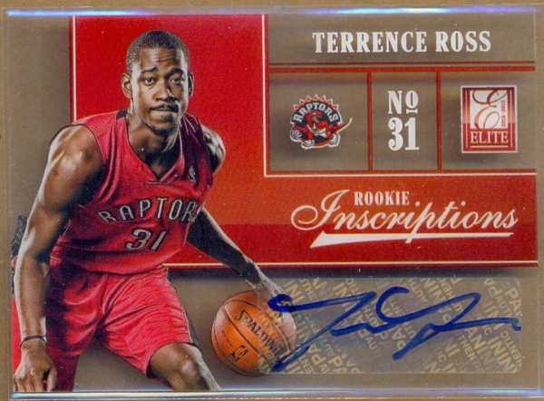 2012-13 Elite Rookie Inscriptions #30 Terrence Ross