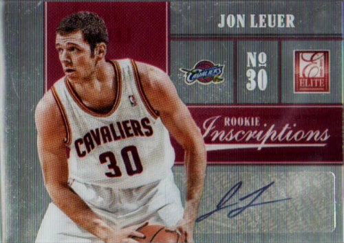 2012-13 Elite Rookie Inscriptions #37 Jon Leuer