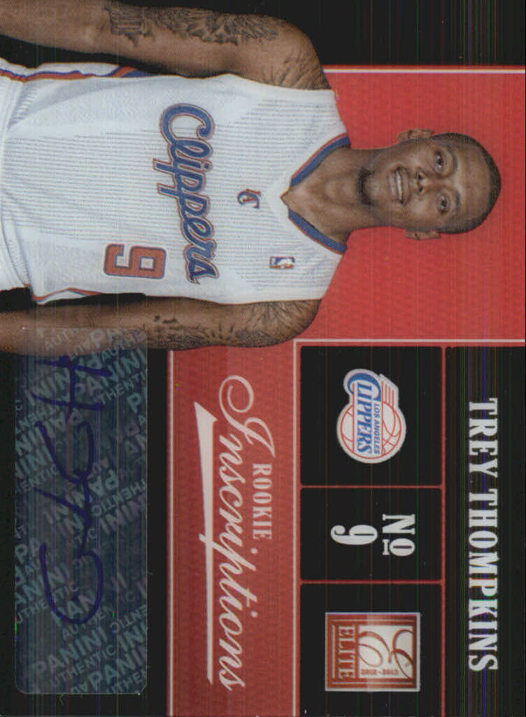 2012-13 Elite Rookie Inscriptions #38 Trey Thompkins