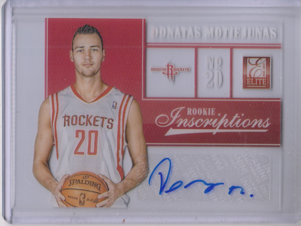 2012-13 Elite Rookie Inscriptions #55 Donatas Motiejunas
