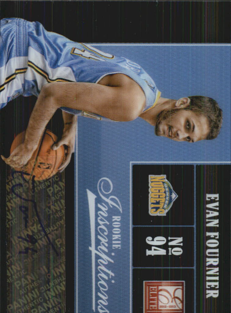 2012-13 Elite Rookie Inscriptions #62 Evan Fournier