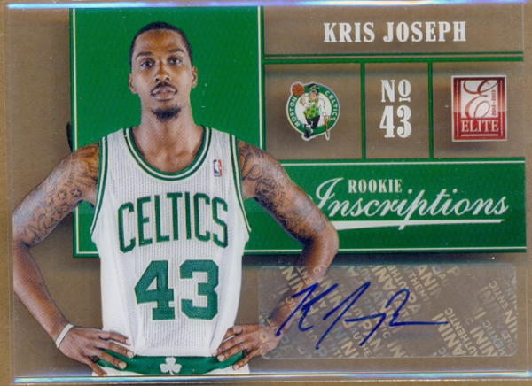 2012-13 Elite Rookie Inscriptions #70 Kris Joseph