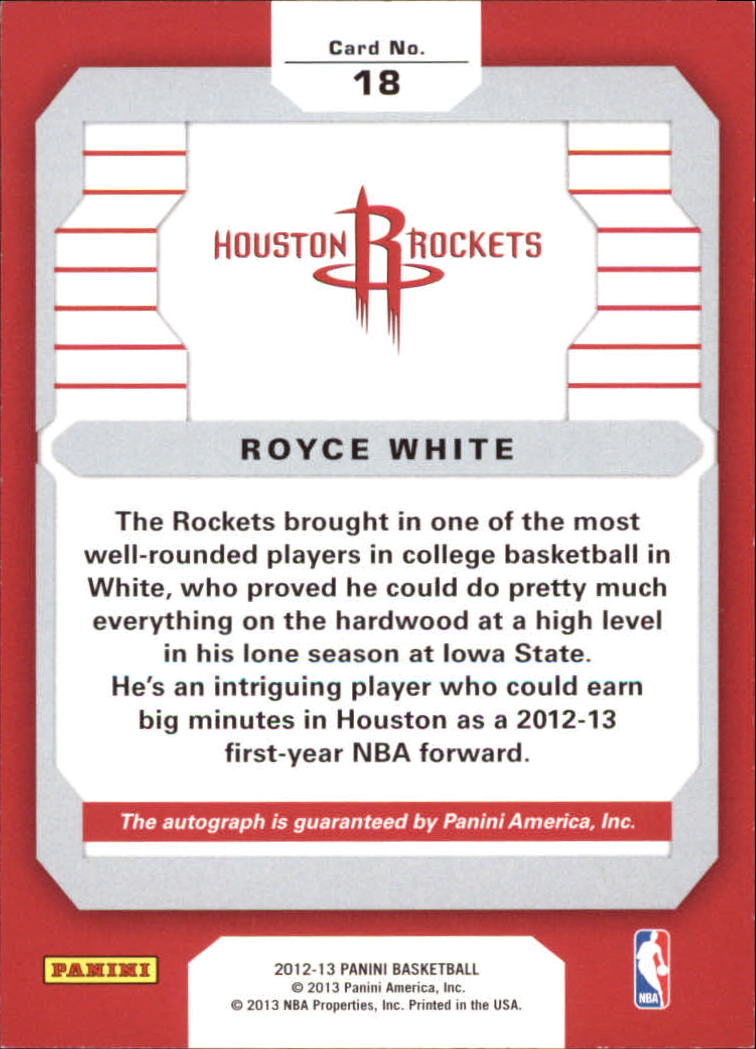 2012-13 Panini Rookie Signatures #18 Royce White