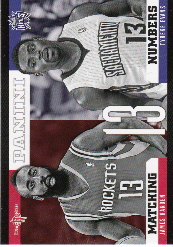 2012-13 Panini Matching Numbers #8 James Harden/Tyreke Evans