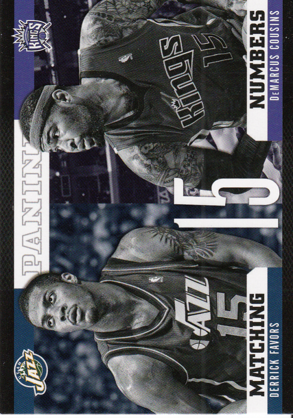 2012-13 Panini Matching Numbers #12 DeMarcus Cousins/Derrick Favors
