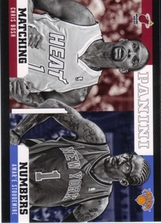 2012-13 Panini Matching Numbers #15 Chris Bosh/Amare Stoudemire