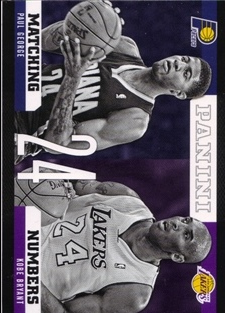 2012-13 Panini Matching Numbers #18 Kobe Bryant/Paul George
