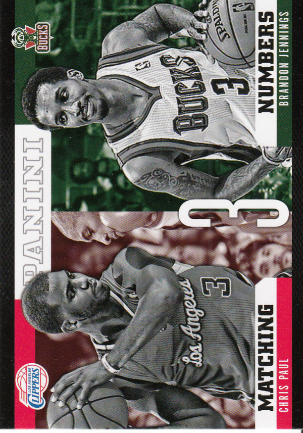 2012-13 Panini Matching Numbers #21 Chris Paul/Brandon Jennings
