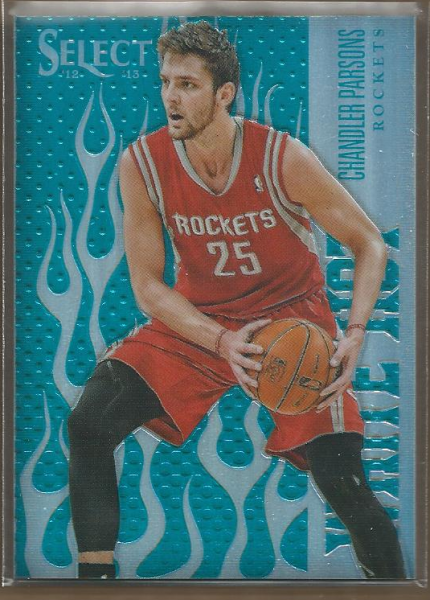 2012-13 Select White Hot Rookies Prizms #37 Chandler Parsons