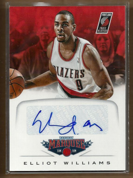2012-13 Panini Marquee Signatures #22 Elliot Williams