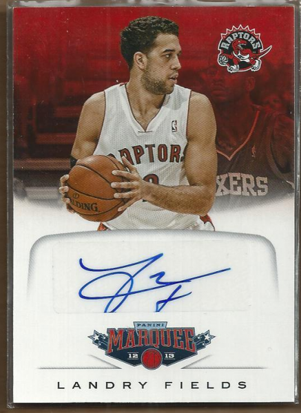 2012-13 Panini Marquee Signatures #45 Landry Fields