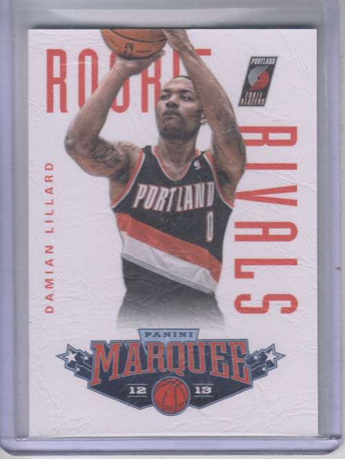 2012-13 Panini Marquee Rookie Rivals Leather #20 Damian Lillard/Anthony Davis