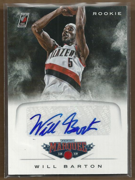 2012-13 Panini Marquee Rookie Signatures #53 Will Barton