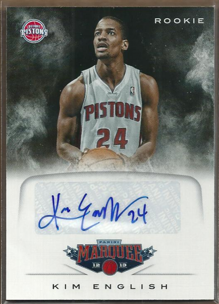 2012-13 Panini Marquee Rookie Signatures #85 Kim English