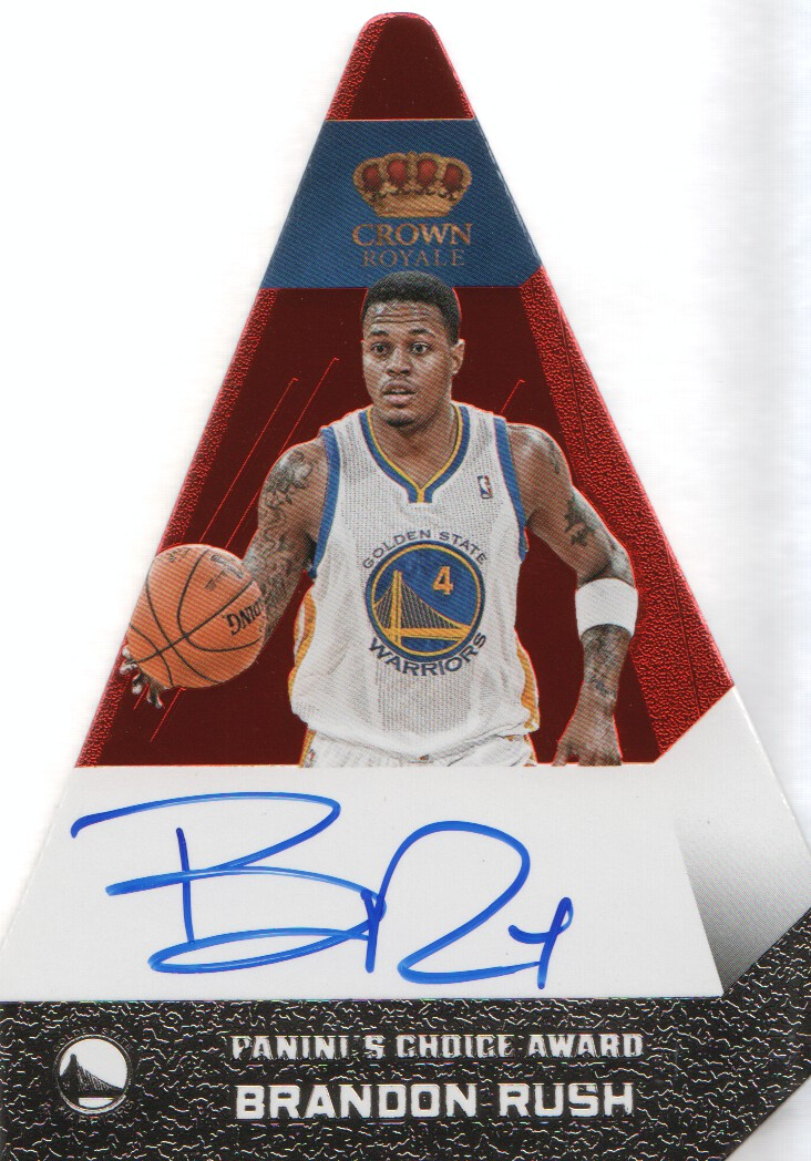 2012-13 Panini Preferred #17 Brandon Rush PC AU/74 EXCH