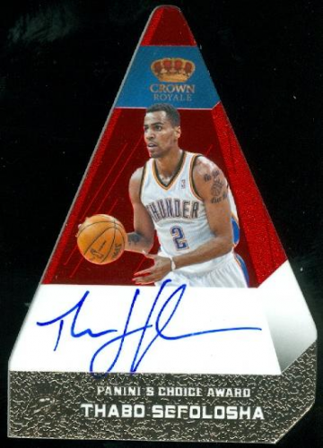 2012-13 Panini Preferred #92 Thabo Sefolosha PC AU/50
